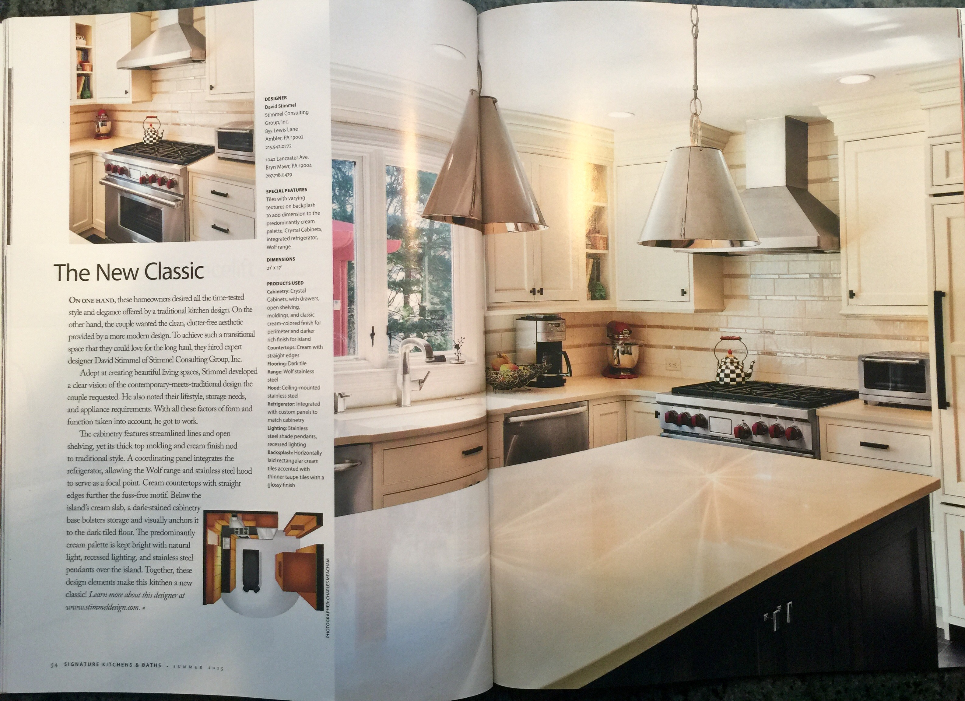Custom Kitchen Renovation Published In Signature Kitchens Baths Magazine As The New Classic